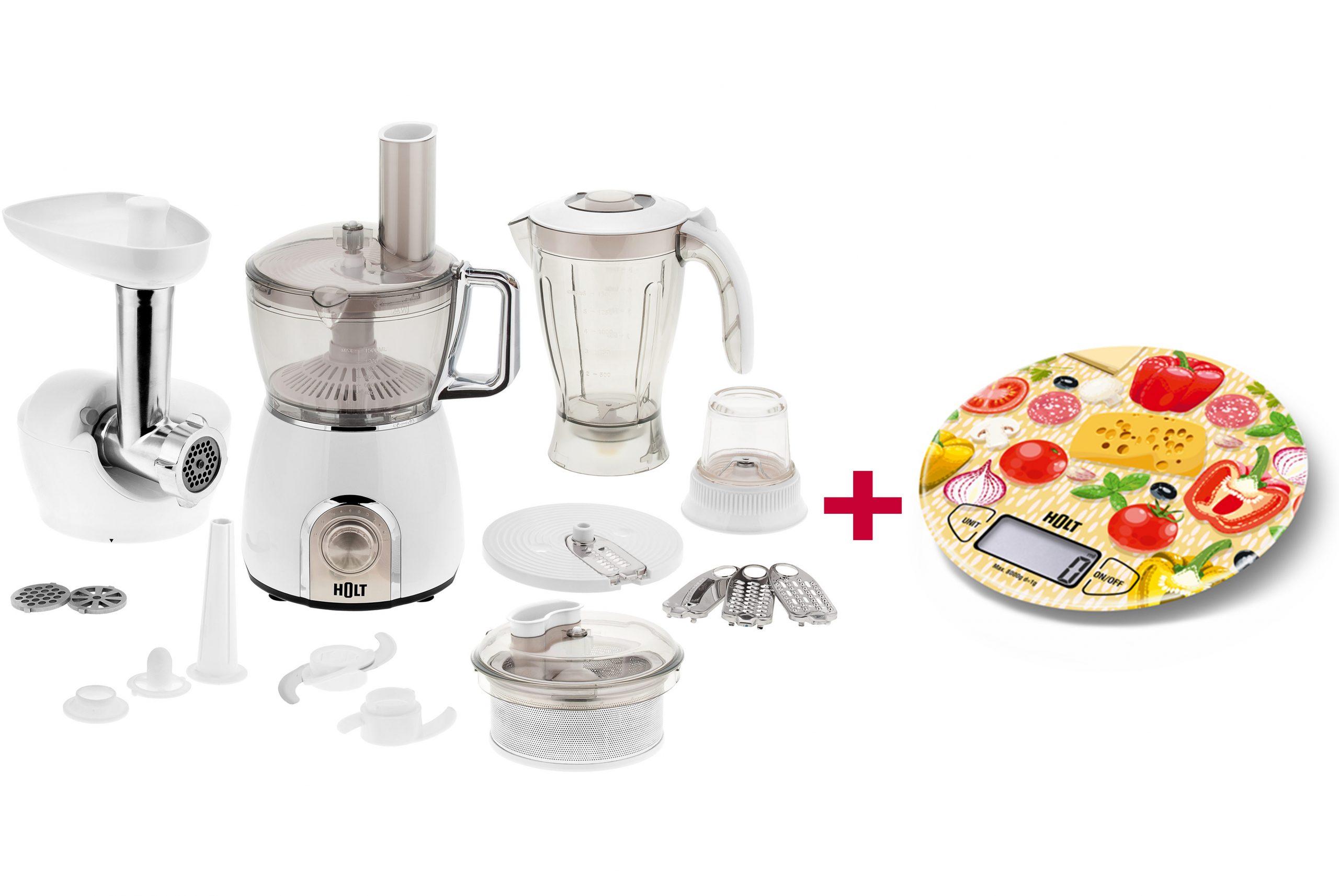Holt komplektas virtuvinis kombainas HT-FP-004 viruvines svarstykles HT-KS-003 Vegetables