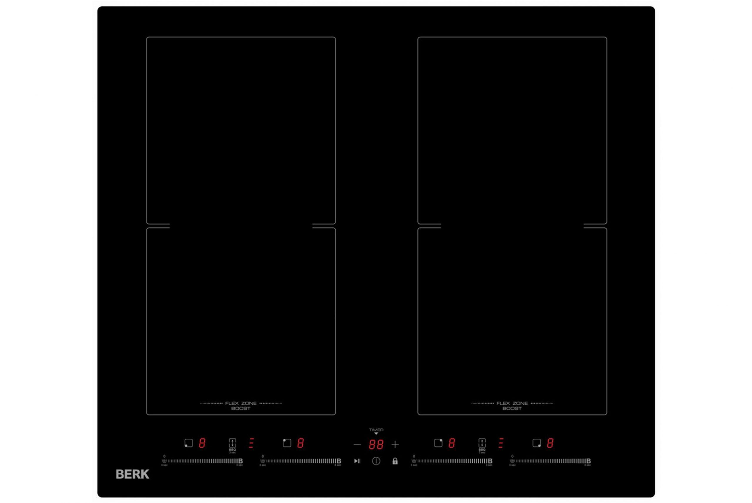 Įmontuojama didelė indukcinė kaitlentė Berk BHI-6200S/YK