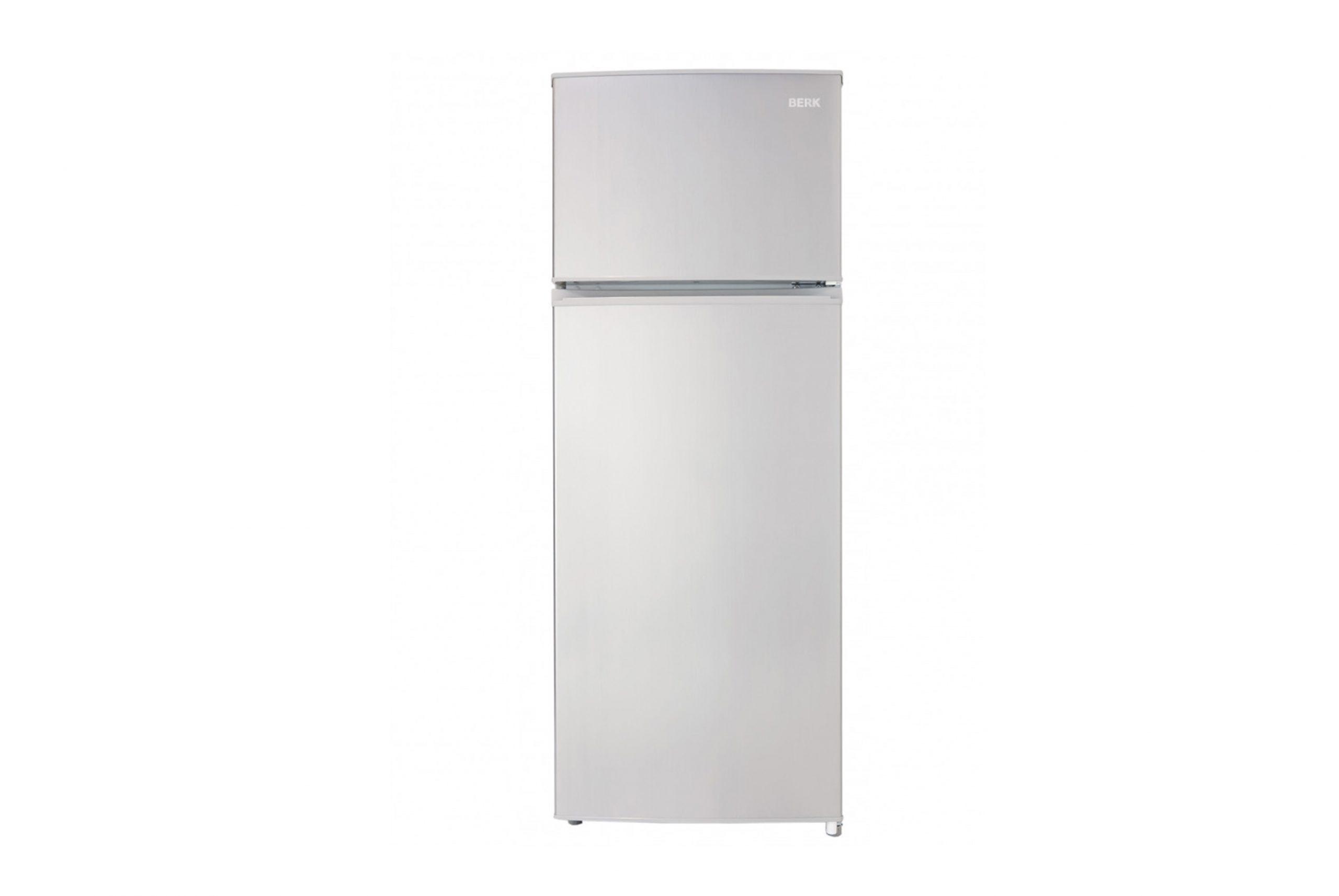 Laisvai pastatomas šaldytuvas su šaldikliu viršuje šaldytuvas BERK BK-273SAS A+