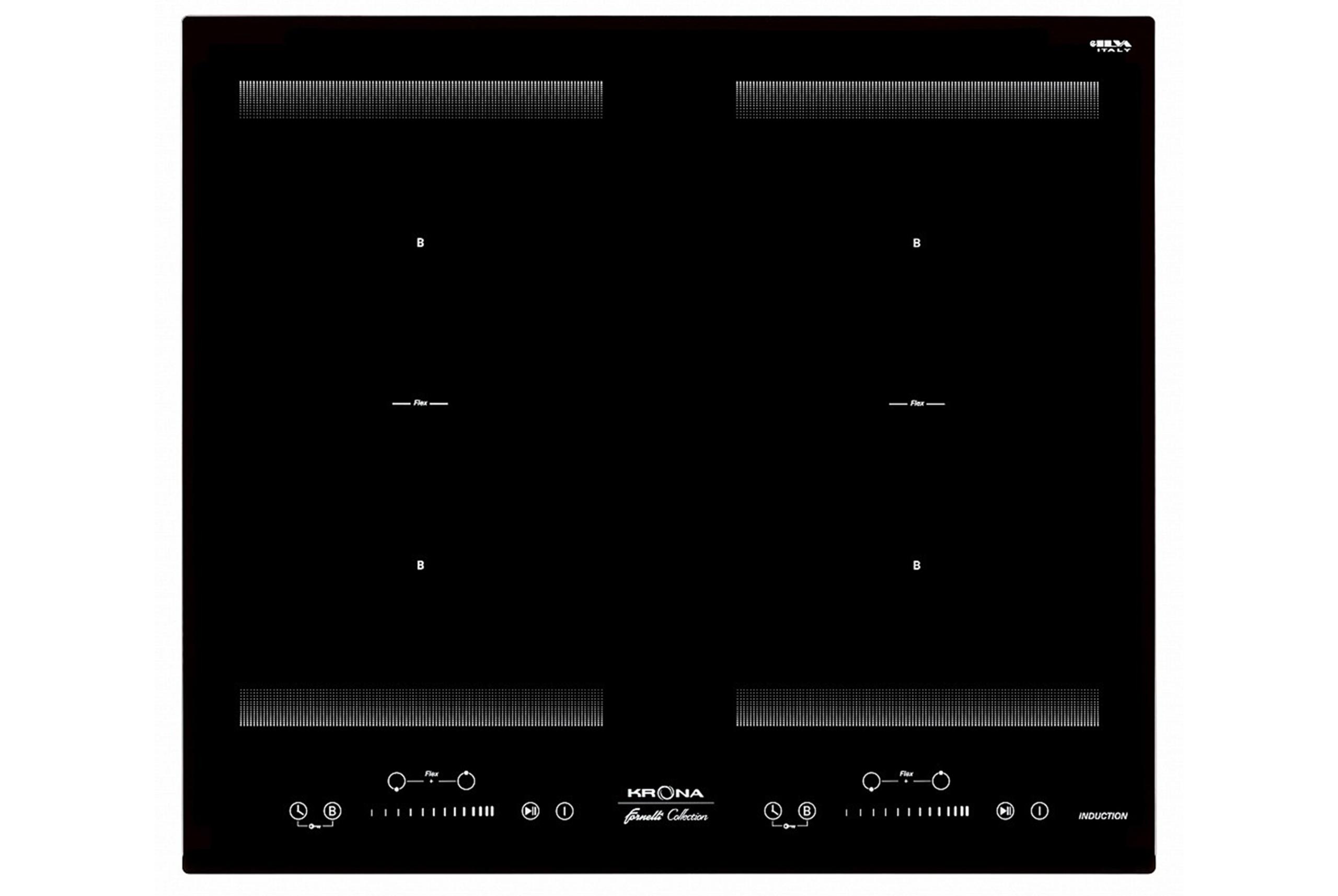 Indukcinė Kaitlentė Krona Eterno 60 BL juoda sensorinis valdymas
