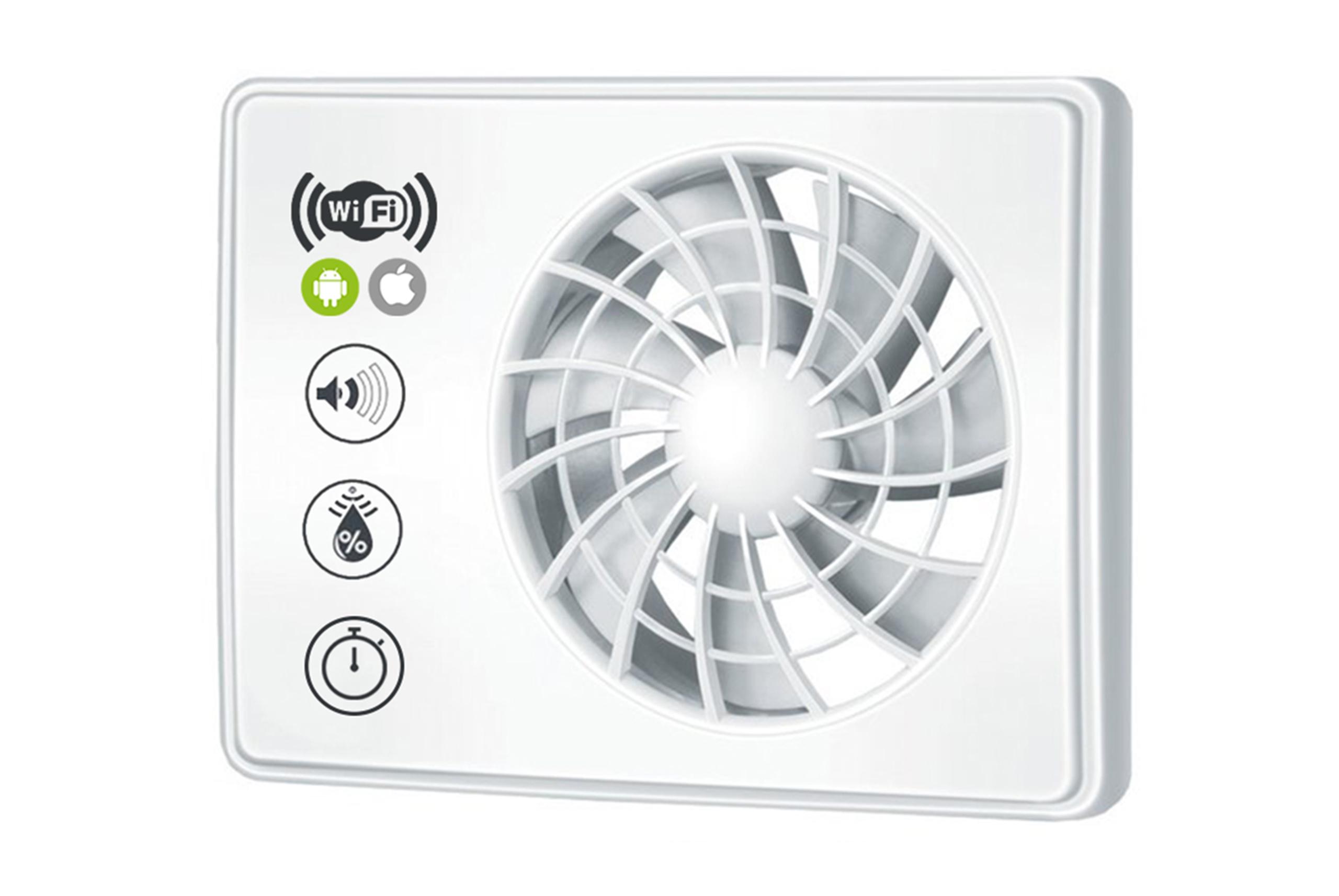 Ištraukimo Ventiliatorius Vlano Aria Wi-Fi valdomas su Programėle (2)